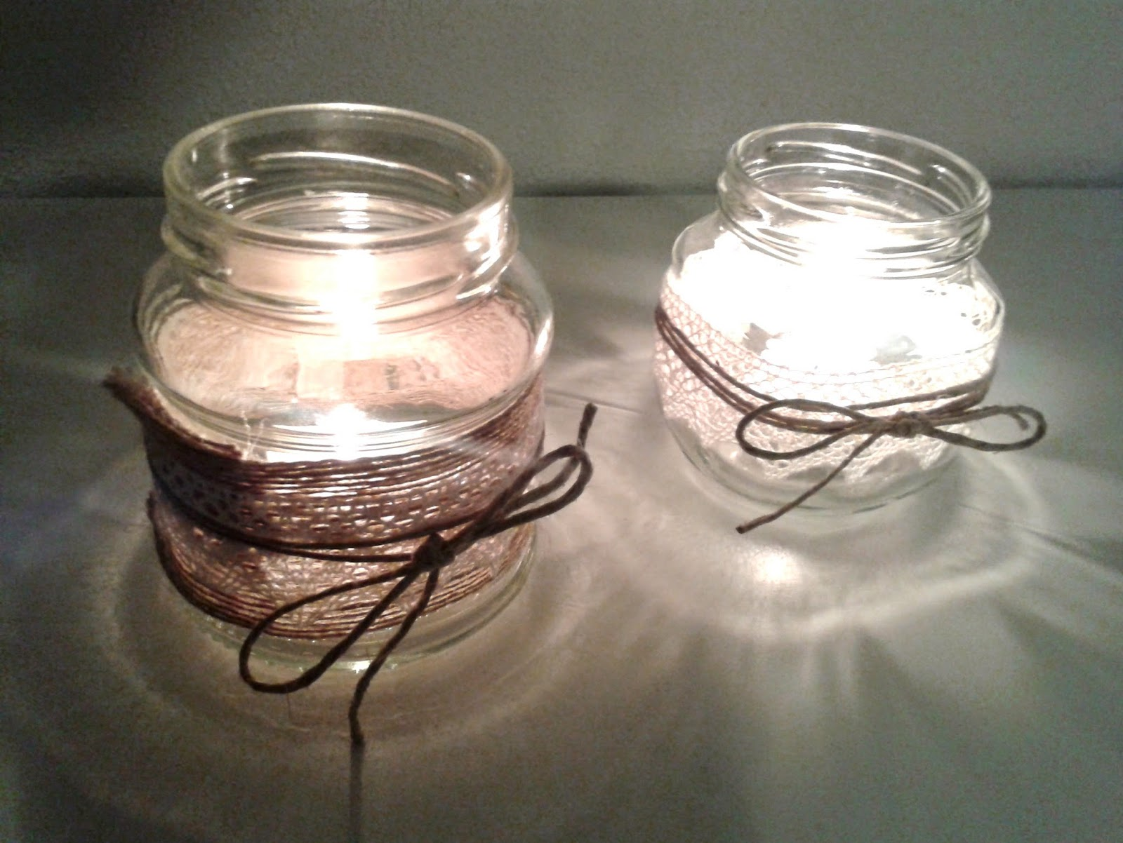 decorar con tarros de cristal - Botes De Cristal Decorados