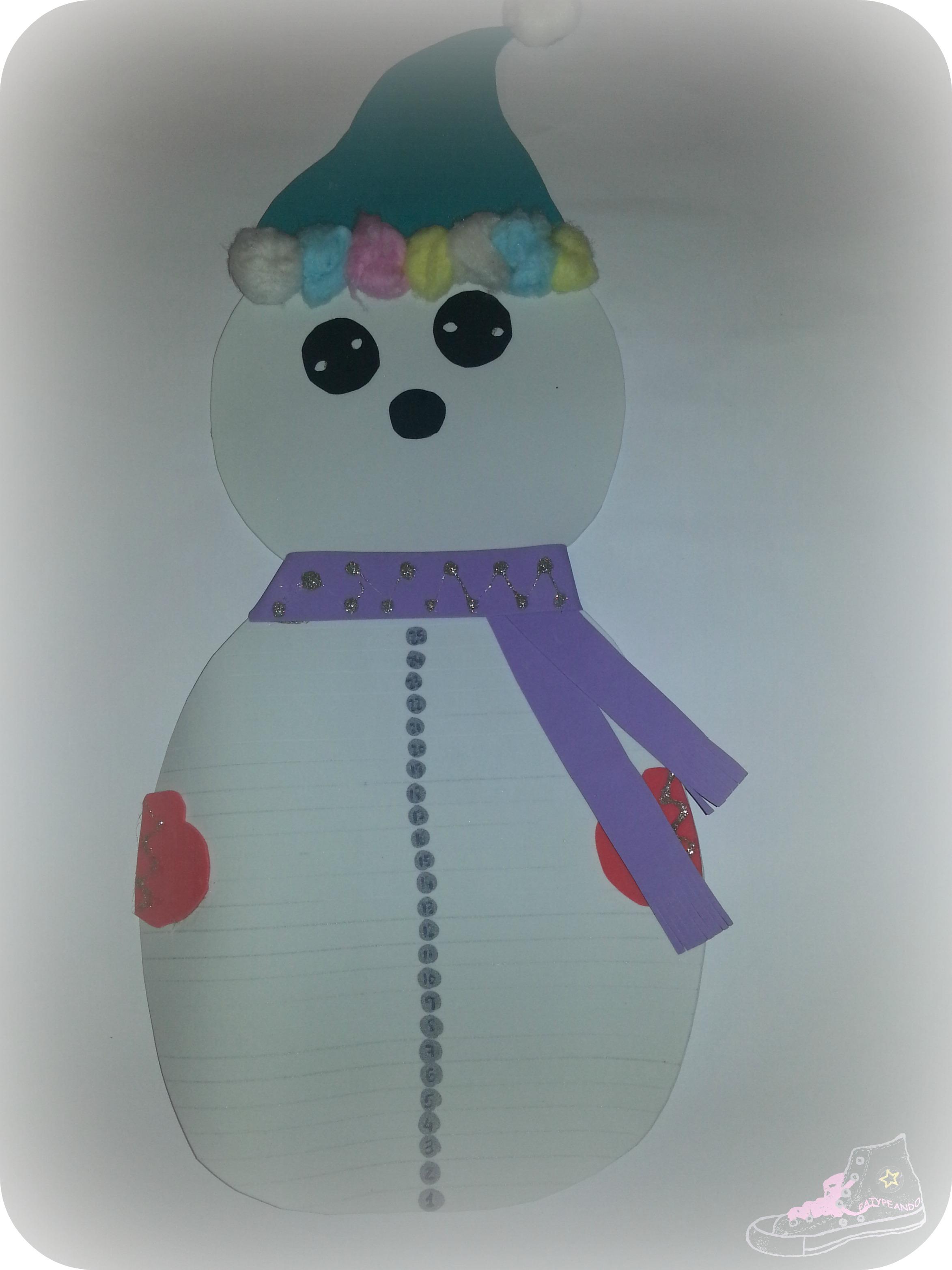 muñeco de nieve sin bigote