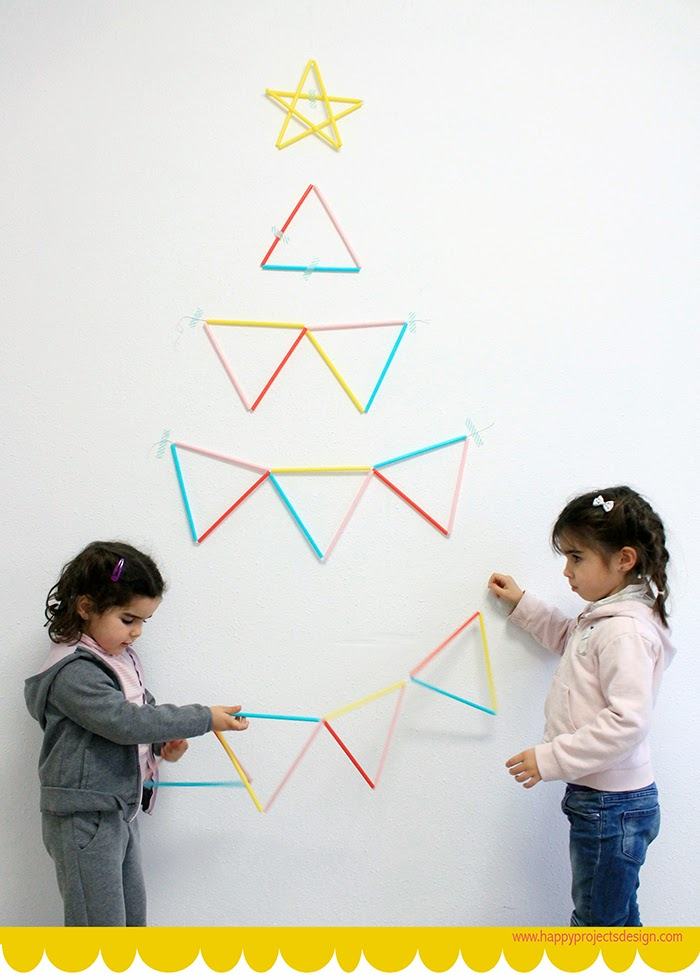 DIY: árbol de navidad alternativo con pajitas