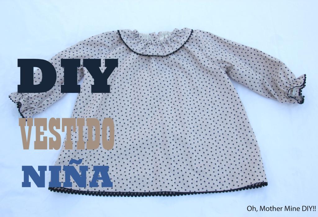 DIY Cómo hacer vestido de niña talla 3 a 8 años (patrón gratis) ... 0db8512f454