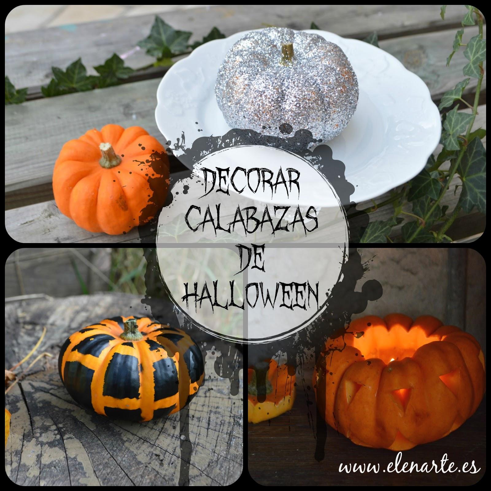 Decorar calabazas de Halloween