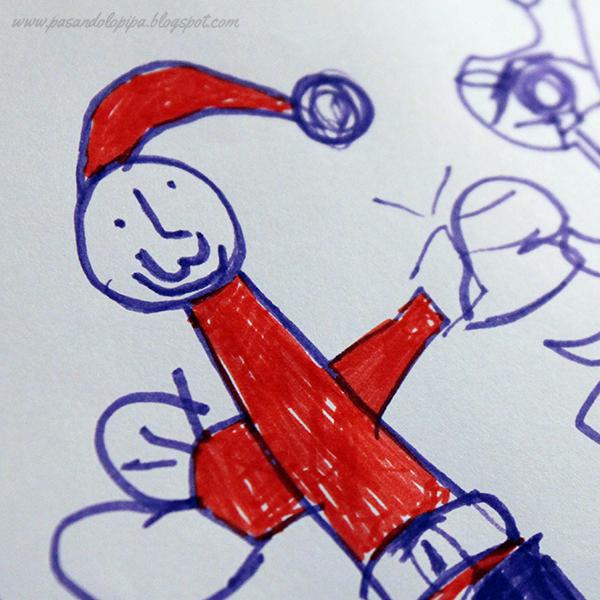 pasandolopipa | dibujando a Papá Noel