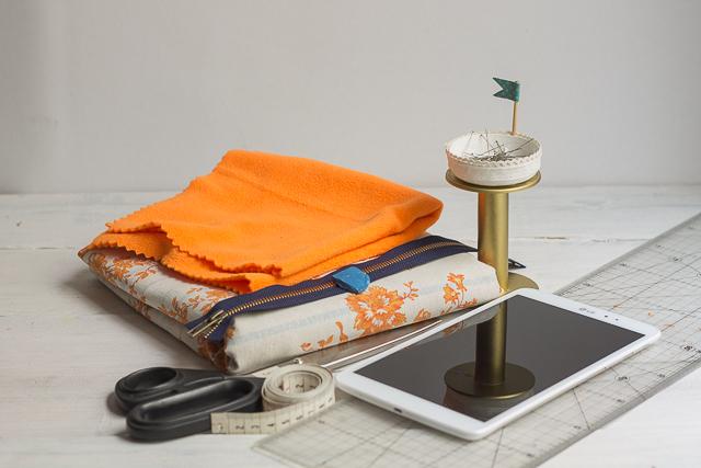 materiales diy funda limpia tablet 1 pangala
