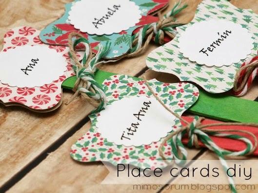 Meseros o Marcapáginas Navideños. Place cards diy.