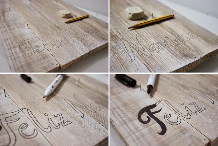 Diariodeco9: Diy Feliz navidad con madera de palet y lazo para Yaicla5
