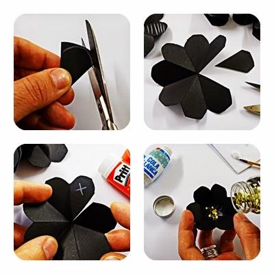 DIY-craft-tarjeta navideña-pop up-navidad-flores-Christmas-felicitación-3