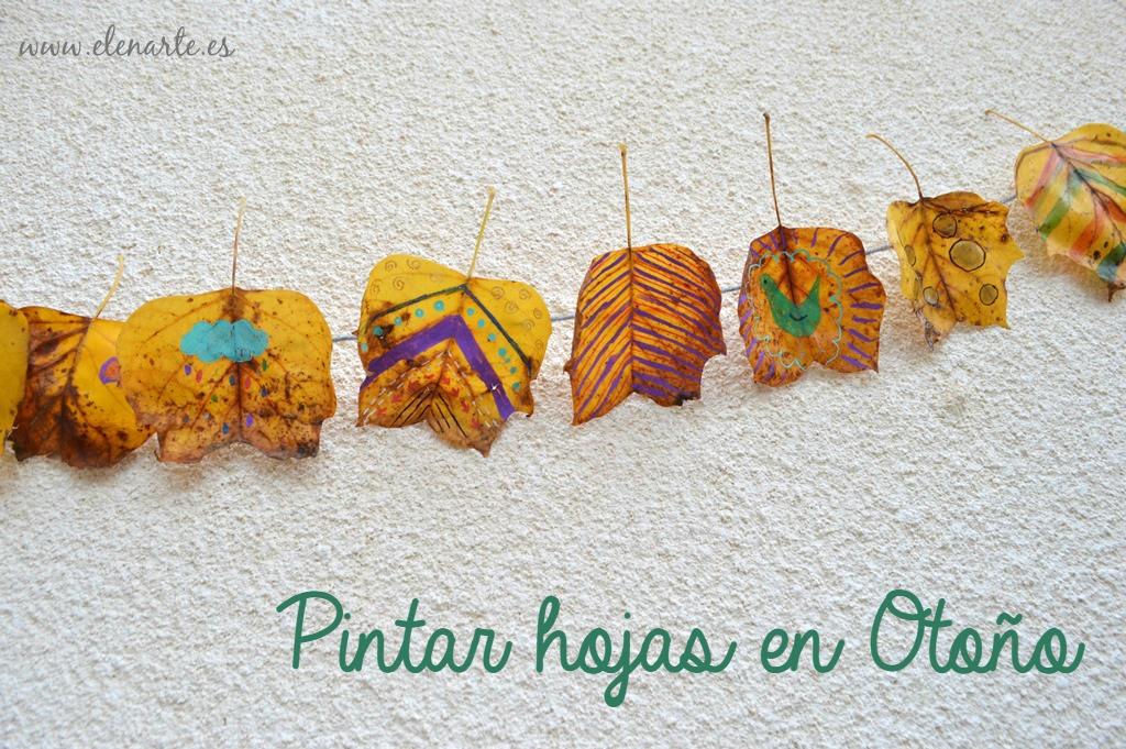 Guirnaldas de hojas pintadas