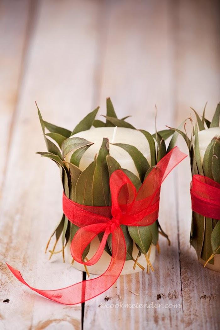 Velas decoradas de navidad
