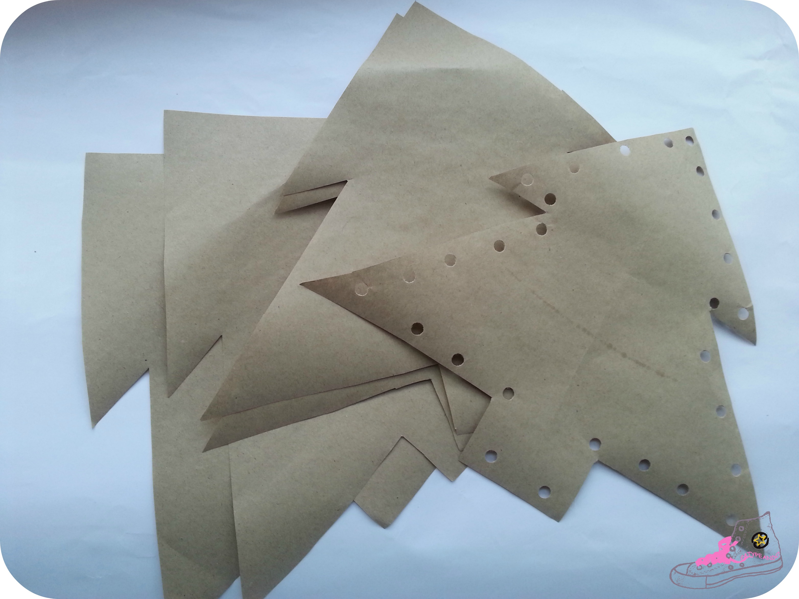 arbol papel craft