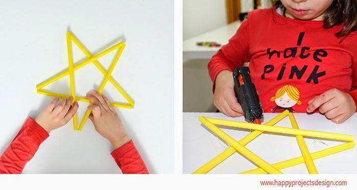 DIY: estrella con pajitas