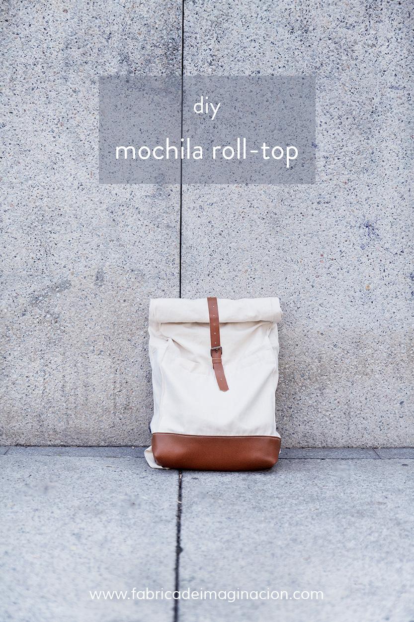 diy hazlo tu misma mochila roll top