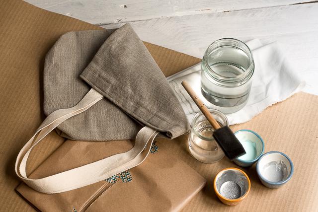 materiales bolsa decorada pangala