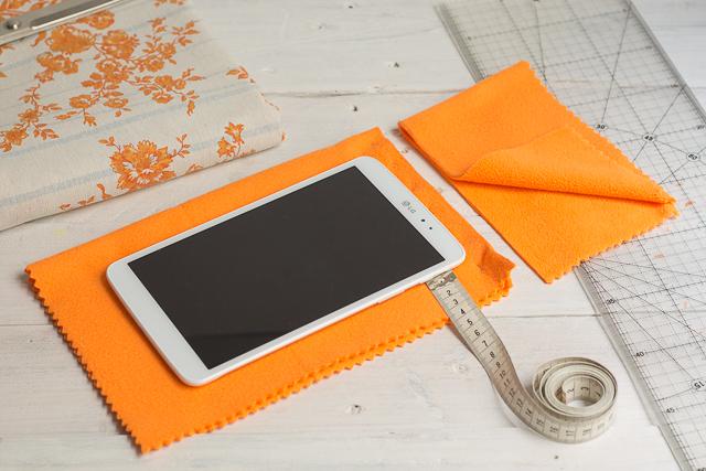 tomar medidas diy funda limpia tablet 2 pangala