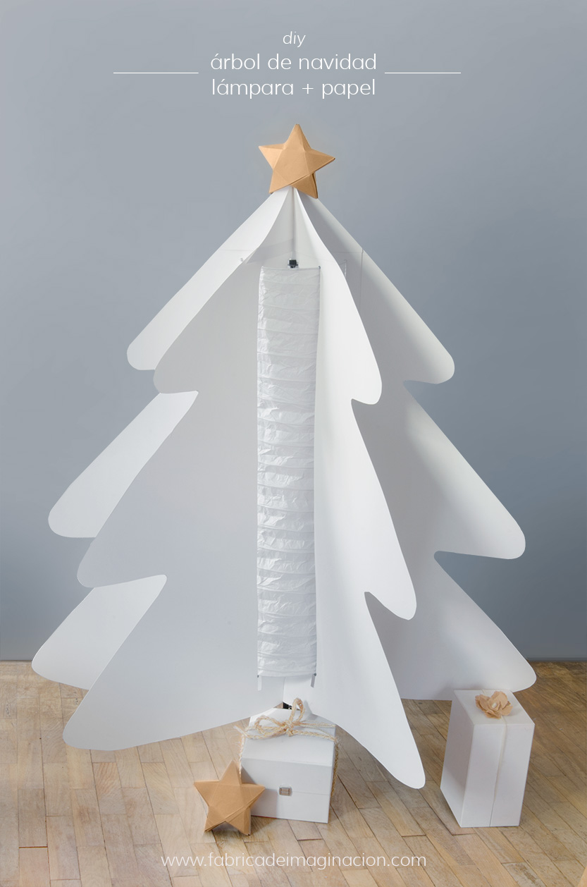 Fabrica de Imaginacion DIY paper lamp christmas tree