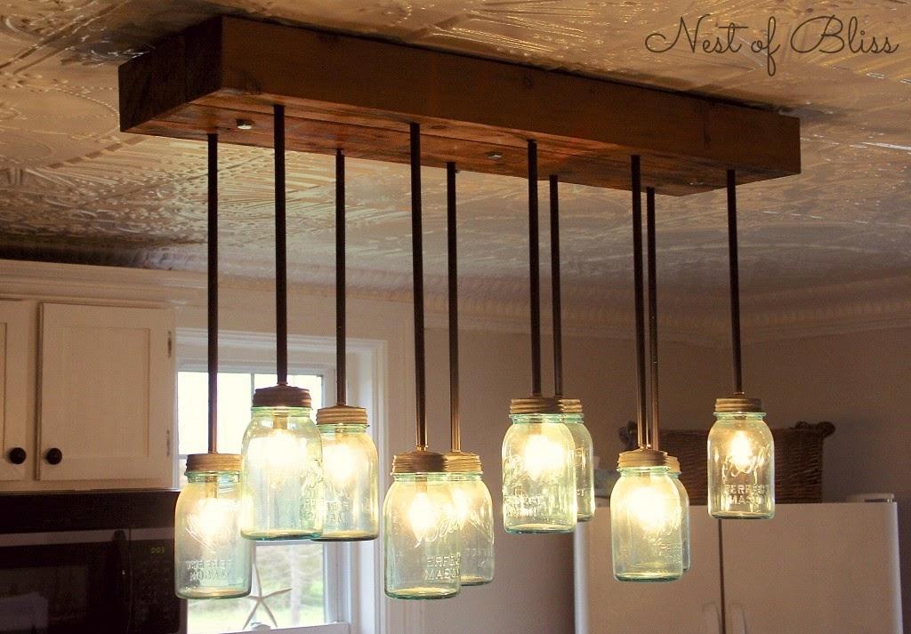 Diy lámparas con botes de cristal5