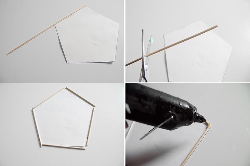 lampara de techo geometrica papel