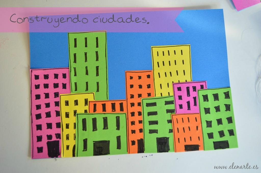 Ciudades de papel, manualidades con niños