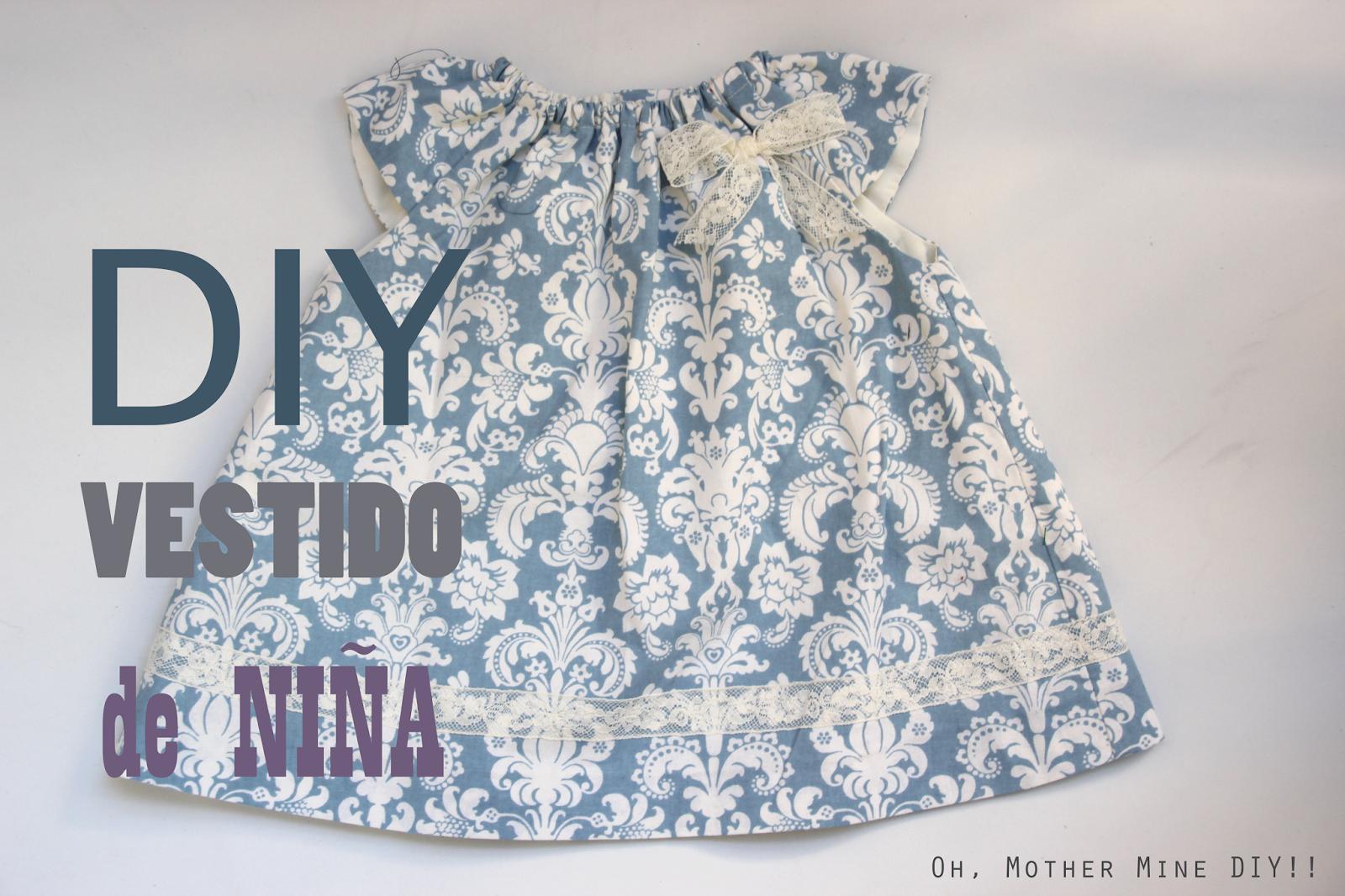 DIY Costura: Cómo hacer vestido de niña con el cuello rizado ...