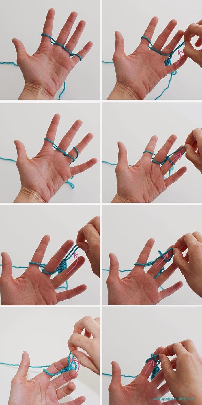 Tejer con los dedos