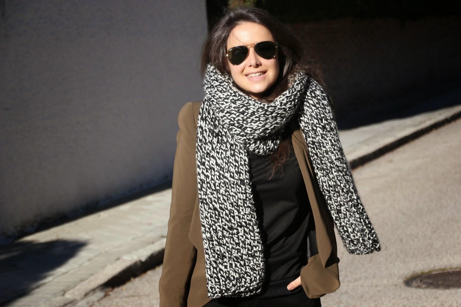 DIY Cómo hacer MAXI BUFANDA (patrones gratis) Aprender a tejer