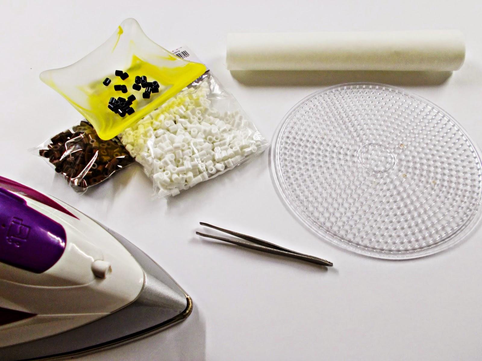 DIY-Hama Beads-ideas-galleta-cookie-guarda auriculares-cables-organizador-2