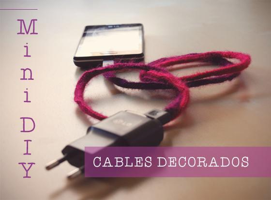 Mini DIY Decorar cables con ganchillo o crochet