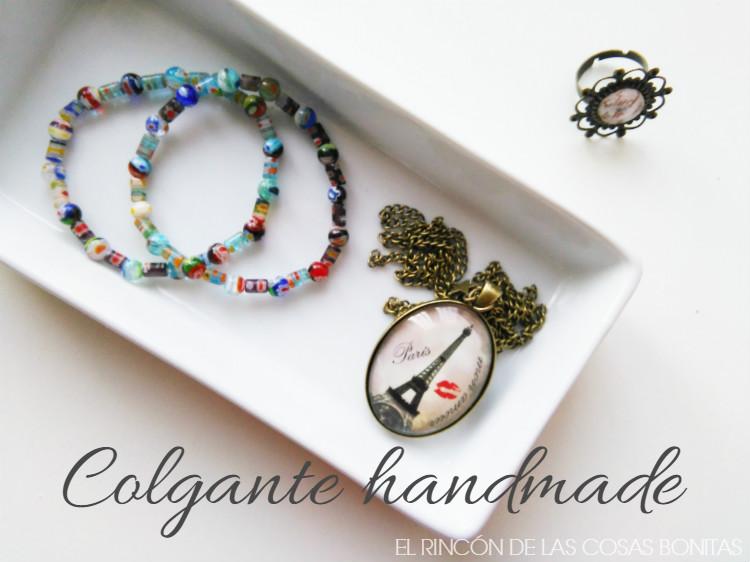 colgante handmade con charm de estrella