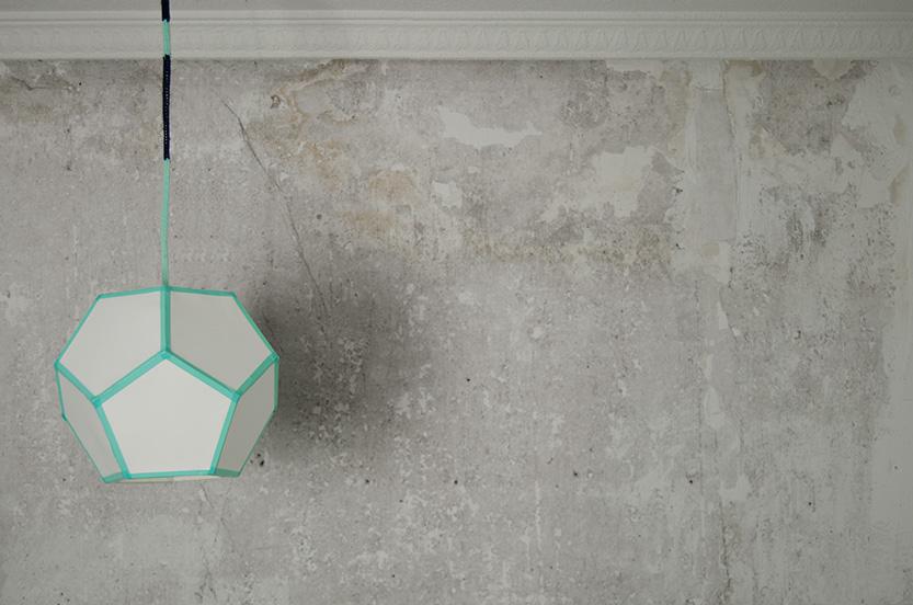 lampara de techo geometrica