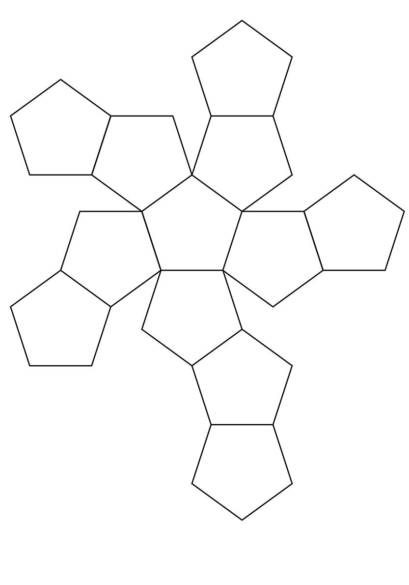 dodecaedro lampara de techo geometrica papel