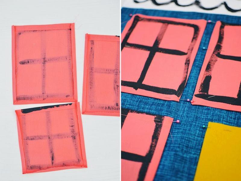 Small & Lowcost: Diy cojín con forma de casa hecho con telas6