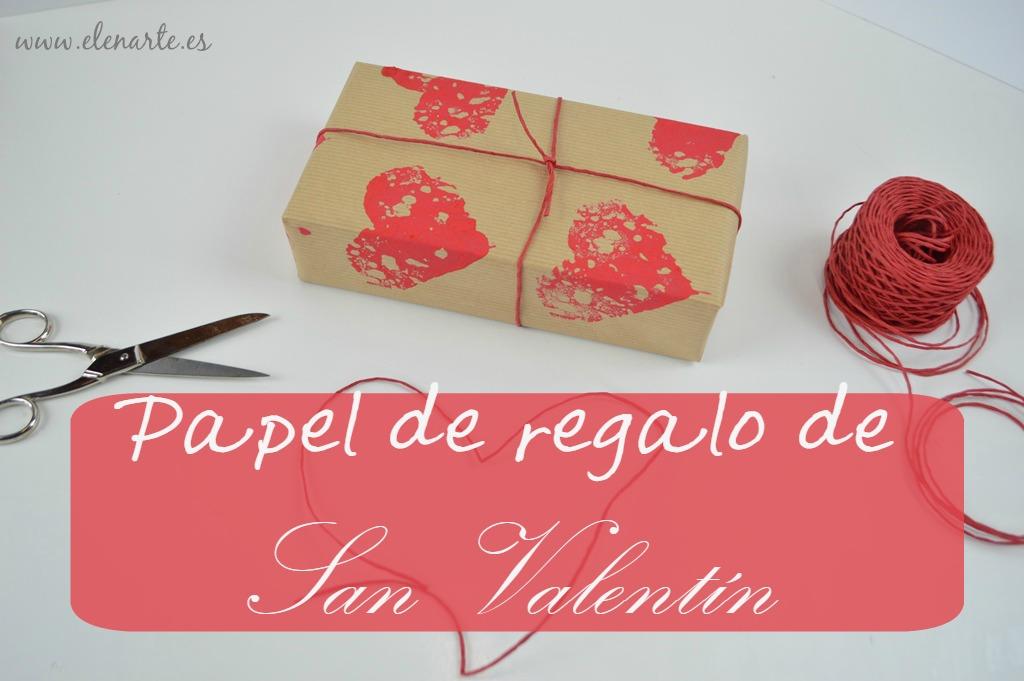 Papel regalo valentin estapar corazones