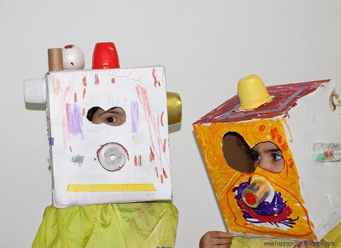 DIY máscaras robot upcycling