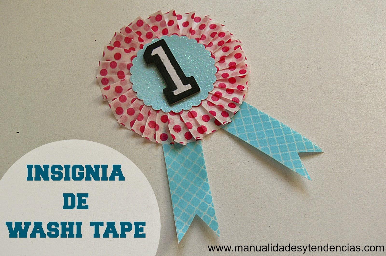 Condecoración de washi tape