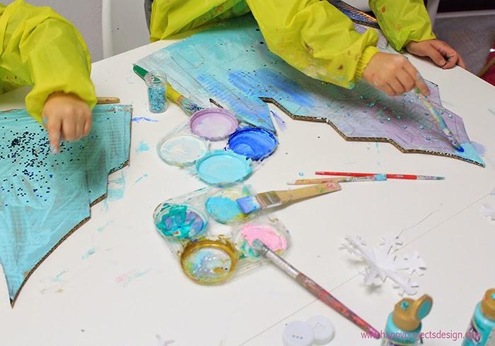 Castillo Frozen DIY en 3D: pintamos el hielo