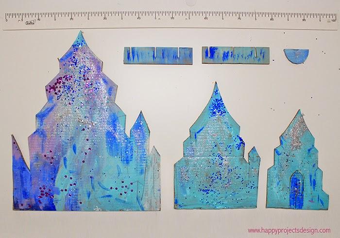 Castillo Frozen DIY en 3D: las partes