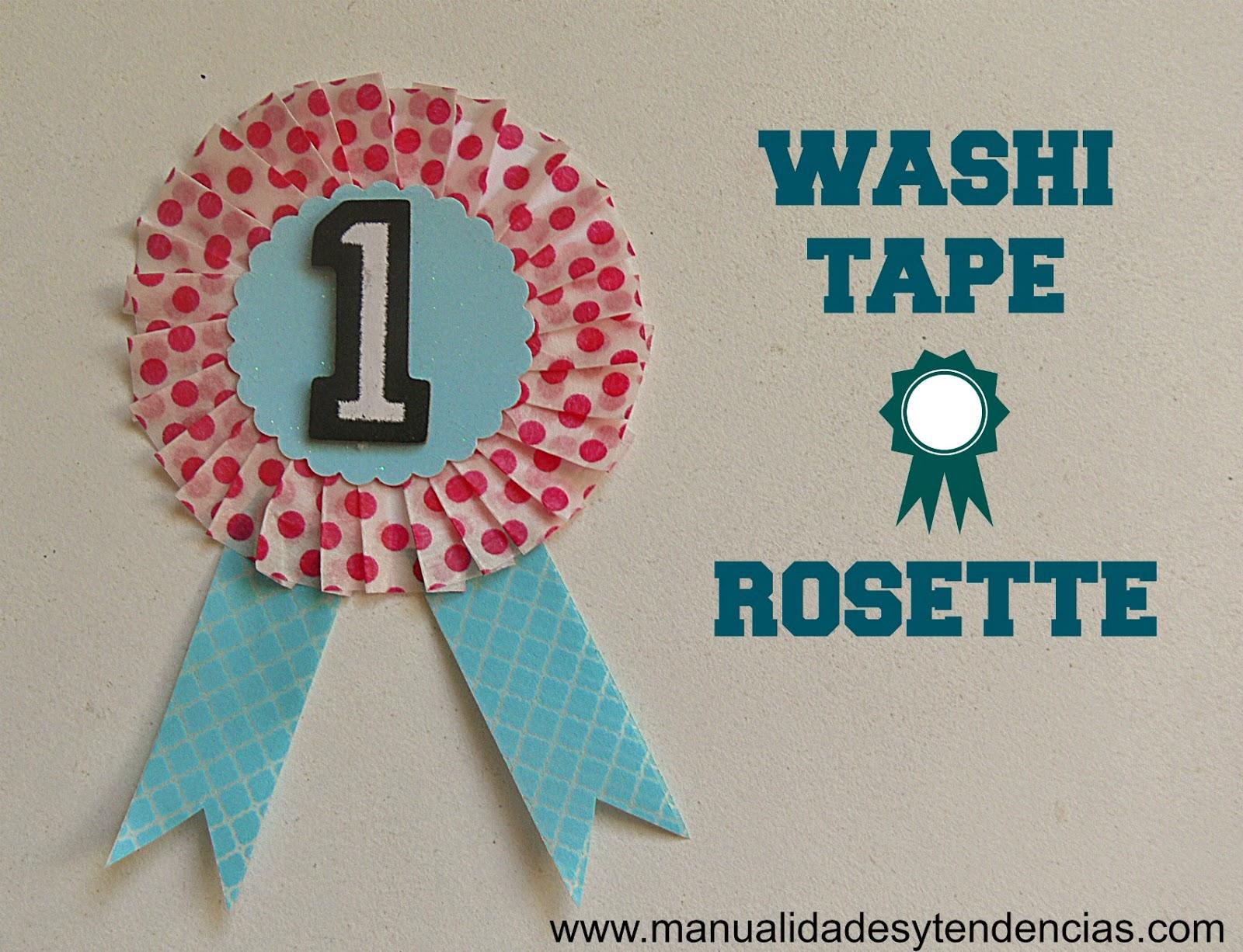 Washi tape rosette tutorial