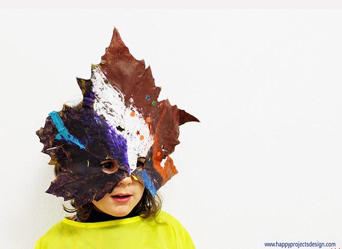 DIY máscara con hoja