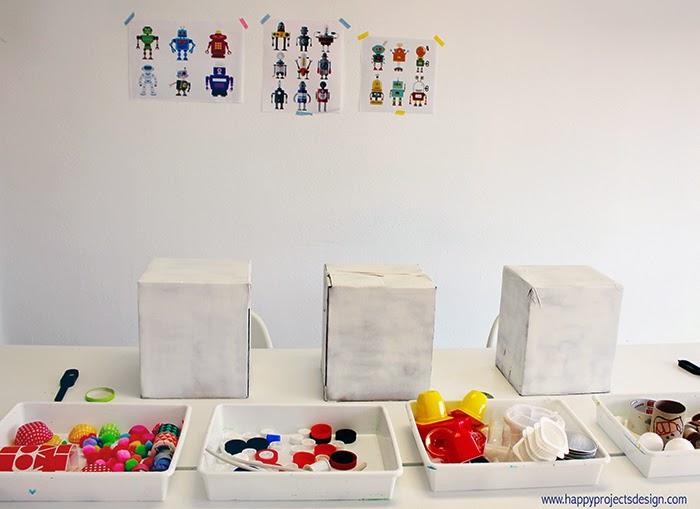 DIY máscaras robot upcycling: materiales