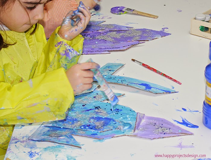 Castillo Frozen DIY en 2D: a pintar
