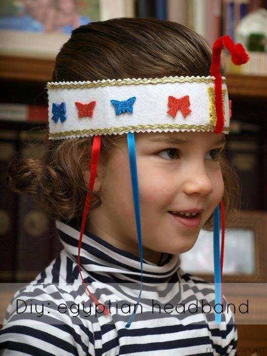 Diadema egipcia para niña. Diy: egyptian headband