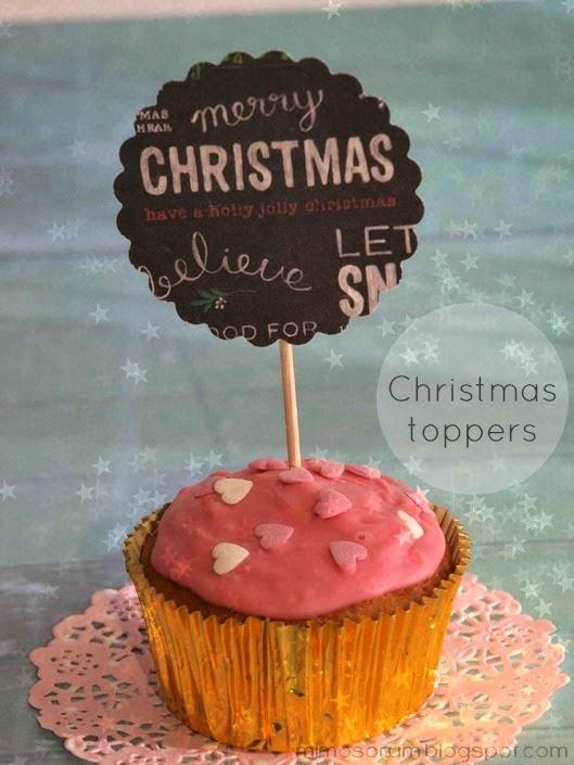 Cómo hacer toppers de Navidad. Christmas toppers.