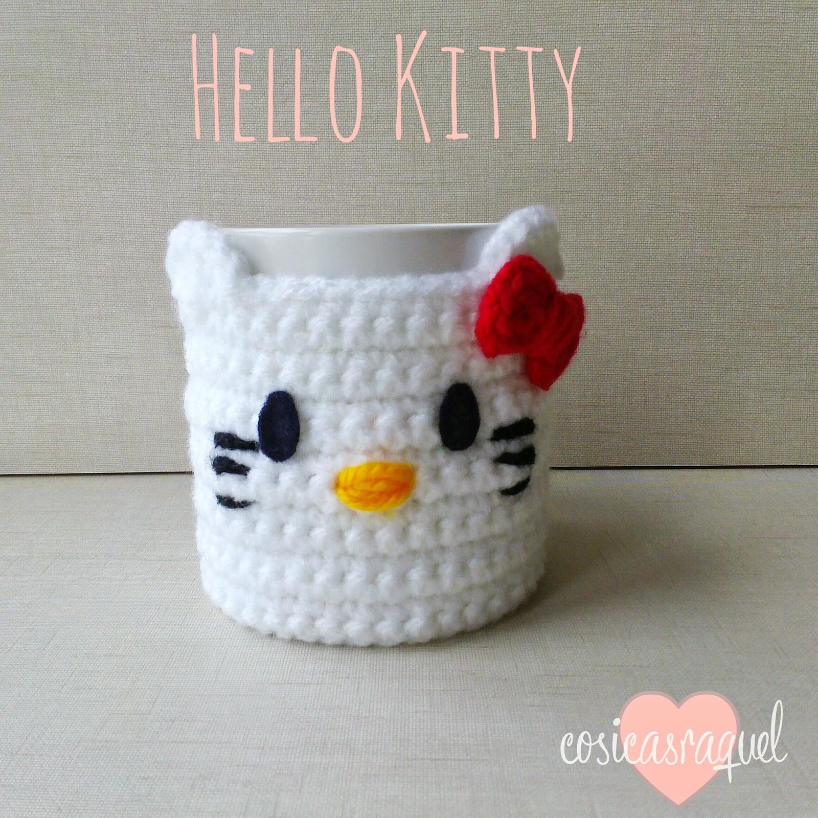 Patrón: Cubre Tazas Hello Kitty Crochet - Handbox Craft Lovers ...