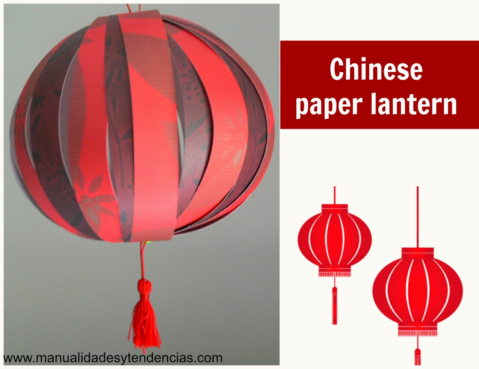 Chinese paper lantern tutorial
