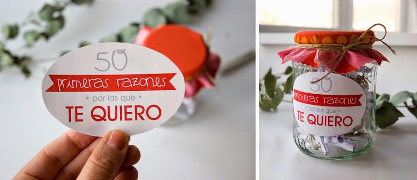 Regalo handmade para San Valentín hecho con bote de cristal y mensajes9