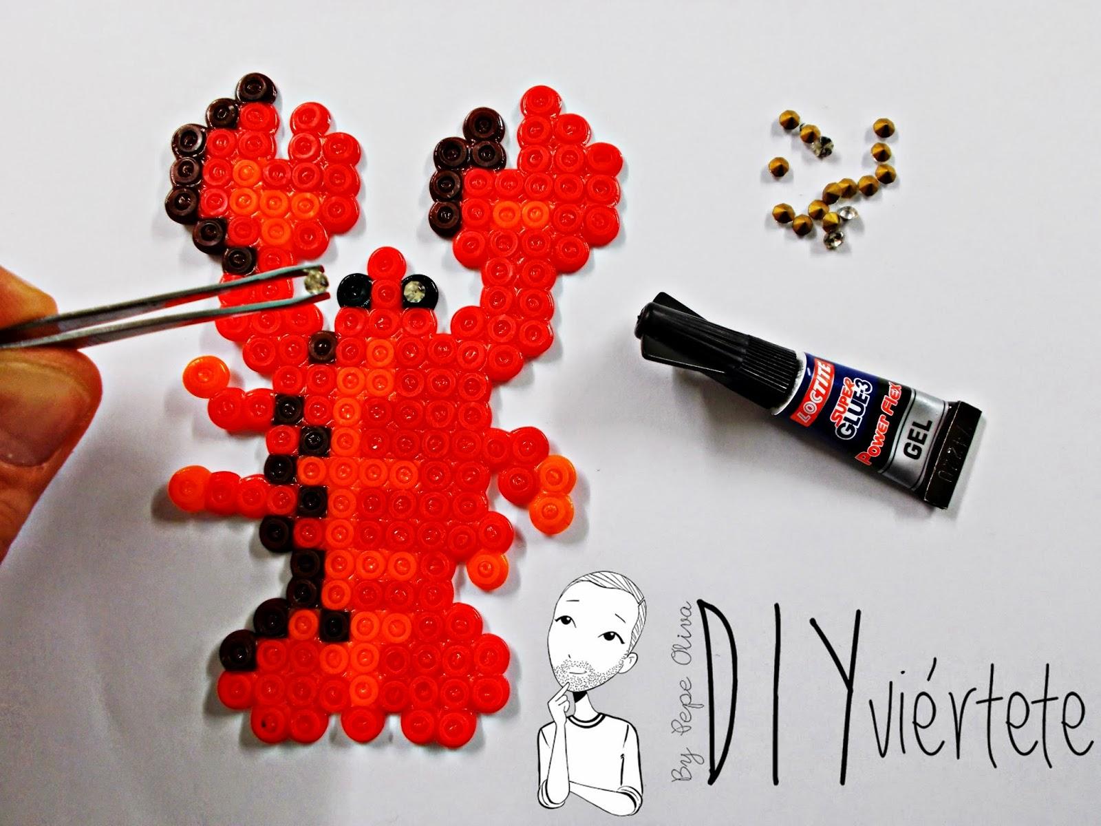 hama beads-diy-langosta-colgante-collar-bisuteria-idea-4
