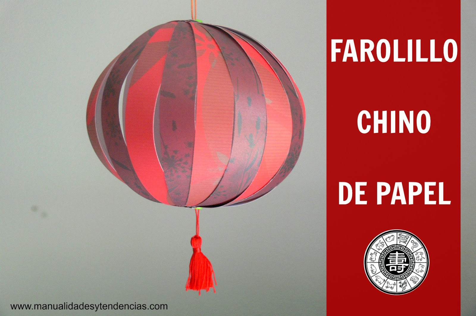 tutorial farolillo chino de papel