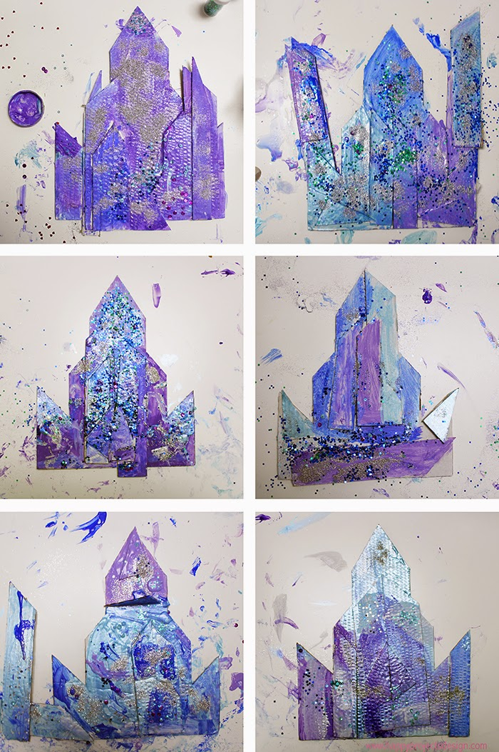 Castillo Frozen DIY en 2D: resultado taller CreaKids
