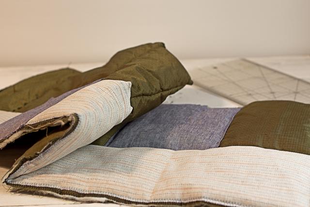 04 coser todas las piezas decorativas taburete personalizado pangala