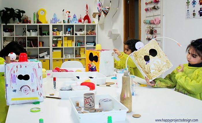 DIY máscaras robot upcycling: work in process