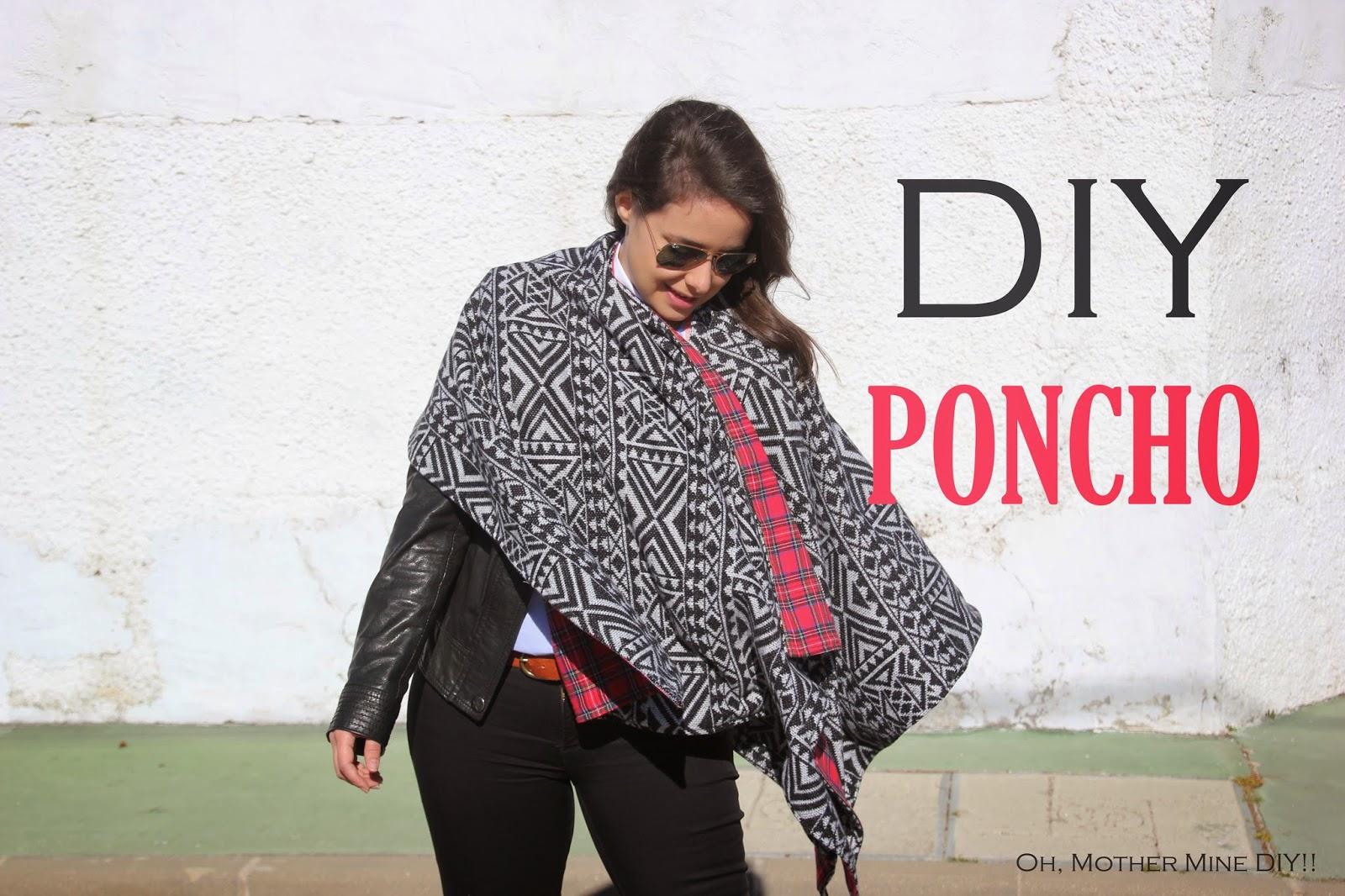 diy poncho reversible como hacer patrones gratis